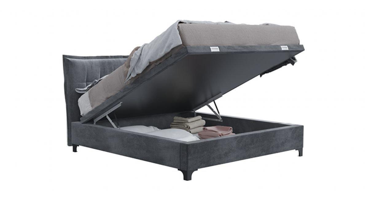 מיטה זוגית מסוג Lotus עם ארגז מצעים סילי