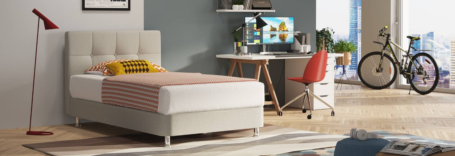 מיטה נוער בוסטון בחדר